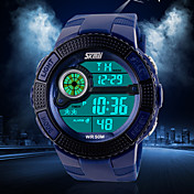 Hombre Reloj de Pulsera Cuarzo Cuarzo Japonés Reloj Deportivo Silicona Banda Negro Azul Verde Negro Verde Azul