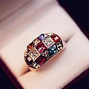 Midi prsteny Křišťál Barva ozdobného kamene Štras Slitina Módní Klasický Elegantní luxusní šperky Barva obrazovky Šperky Párty 1Nastavte