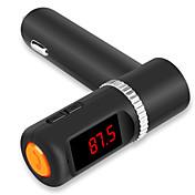 4,2 cargador del coche usb dual aux-in fm micrófono manos libres transmisor bluetooth para el iphone 6 6 más 5s 4s y otros