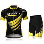 SPAKCT Maillot de Ciclismo con Shorts Hombre Manga Corta Bicicleta Pantalones Cortos Acolchados Camiseta/Maillot Shorts/Malla corta Sets