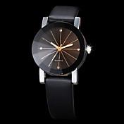 Hombre Mujer Pareja Reloj de Vestir Reloj de Moda Reloj de Pulsera Cuarzo Brillante La imitación de diamante PU Banda Negro Negro