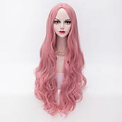 女性 人工毛ウィッグ キャップレス 非常に長いです ルーズウェーブ ミドル部 ハロウィンウィッグ カーニバルウィッグ コスチュームウィッグ