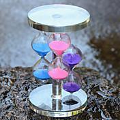 三色のクリスタルガラス砂時計工芸品ホーム家具の装飾品