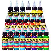 Tintas solong tattoo 21 cores set 1oz 30ml / garrafa tatuagem pigmento kit