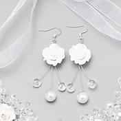 Pendiente Pendientes Gota Aleación/Perla Artificial Cristal/Perla Artificial De mujeres