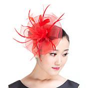 成人用 羽毛 ポリエステル かぶと-結婚式 パーティー カジュアル 屋外 ヘッドドレス 1個