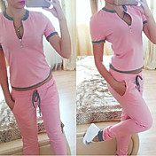 WOMEN - カジュアル - スーツ ( コットン ラウンド - 半袖