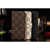 のために iPhone 5ケース ウォレット / カードホルダー / スタンド付き / フリップ ケース フルボディー ケース 幾何学模様 ハード PUレザー iPhone SE/5s/5