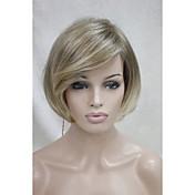 オンブルかつらストレートファッションウィッグ短い金髪ミックストップ品質の毛のかつら