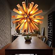 Lámparas Colgantes ,  Campestre Otros Característica for LED Madera/Bambú Sala de estar Dormitorio Comedor Habitación de estudio/Oficina