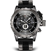 V6 Hombre Reloj Militar Reloj de Pulsera Cuarzo Cuarzo Japonés Con regla Silicona Banda Negro Blanco Azul Gris Blanco Negro Gris Azul