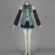 Inspirovaný Vocaloid Hatsune Miku Anime Cosplay kostýmy Cosplay šaty Patchwork NiebieskiHalenka / Sukně / Kravata / Rukáv / Doplňky k