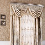 (dos paneles) jacquard tradicional de seda del faux chenille cortina floral (cenefa y pura no incluido)