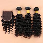 Cabello humano teje Cabello Brasileño 350 8 12 14 16 18 20 22 24 26 28 30 Extensiones de cabello humano