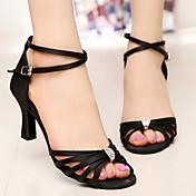Zapatos de baile (Negro) - Danza latina / Salsa / Samba - Personalizados - Tacón Personalizado