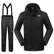 Hombre Chaquetas 3-en-1 Impermeable Mantiene abrigado Resistente al Viento Chaqueta de Invierno Sets de Prendas para Esquí Invierno S M L