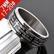 Prstýnky Párty / Denní / Ležérní Šperky Titanová ocel Muži Široké prsteny 1ks,7