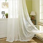 2パネル ウィンドウトリートメント 田舎風 ベッドルーム ポリエステル 材料 カーテンドレープ ホームデコレーション For 窓
