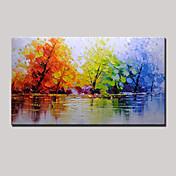Pintada a mano Abstracto Paisaje Panorámica,Modern Un Panel Lienzos Pintura al óleo pintada a colgar For Decoración hogareña