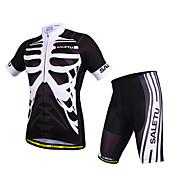SALETU Maillot de Ciclismo con Shorts Unisex Manga Corta Bicicleta Manguitos Camiseta/Maillot Shorts/Malla corta Sets de Prendas Secado