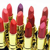 Barras de Labios Seco Bálsamo Gloss colorido / Larga Duración / Natural Múltiples colores 24
