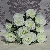 alta calidad 9 cabezas rosas flores artificiales flores de seda de flores de flores de seda para la decoración casera 1pc / set