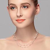 Šperky Set Dámské Výročí / Svatba / Zásnuby / Narozeniny / Dárek / Párty / Na každý den / Zvláštní příležitost Sady šperků Imitace perly