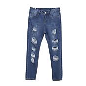 De las mujeres Pantalones Vaquero-Casual Microelástico-Algodón