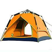 CAMEL 3-4人 テント ダブル 自動テント 1つのルーム キャンプテント 2000-3000 mm 防風 抗紫外線 防雨-ハイキング ビーチ キャンピング-グリーン ブルー オレンジ