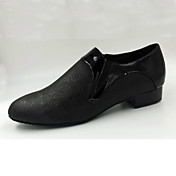 Zapatos de baile(Negro) -Moderno-Personalizables-Tacón Bajo