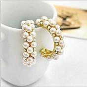 Stud Earrings Hoop Earrings Pearl Imitation Pearl Cubic Zirconia Simulated Diamond Alloy Screen Color Jewelry 2pcs