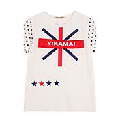 Camiseta Chica deAlgodón-Verano-Blanco