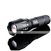 LED懐中電灯 LED 3000 ルーメン 5 モード クリーXM-L2 1 x 18650電池 焦点調整可 耐衝撃性 滑り止めグリップ 充電式 防水 ストライクベゼル 小型 緊急 スマールサイズ ナイトビジョン スーパーライト ハイパワー ズーム可能 のために