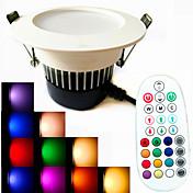 9W LEDダウンライト 18PCS SMD 5730 650 lm 温白色 / クールホワイト / ナチュラルホワイト / RGB リモコン操作 / 装飾用 / 明るさ調整 / 音検知 AC 100-240 V 1個