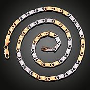 Gargantillas Collares de cadena Joyas Chapado en Oro Fiesta Dorado / Plateado 1 pieza Regalo