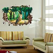 Životinje / Botanički / Pejzaž Zid Naljepnice 3D zidne naljepnice,pvc 50*70CM