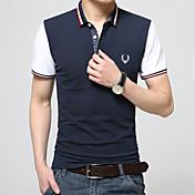 男性用 半袖 ポロシャツ,コットン / モーダル カジュアル / オフィス / フォーマル / スポーツ プレイン / カラーブロック