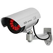 kingneo 1個白無線偽ダミードームCCTVセキュリティカメラはLEDライト