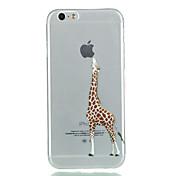 iphone 7 mais girafa TPU caso de telefone macio para iphone 5SE / 5 / 5s