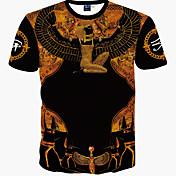 Masculino Camiseta Esportes Casual Boho Estampado Algodão Manga Curta