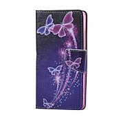 のために Huaweiケース ウォレット / カードホルダー / スタンド付き ケース フルボディー ケース バタフライ ハード PUレザー Huawei Huawei Honor 5X