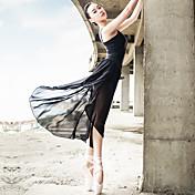 Ballet Accesorios Mujer Representación Espándex Satinado Fruncido Drapeado 2 Piezas Sin mangas Top Falda