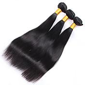 人間の髪編む ブラジリアンヘア ストレート 3個 ヘア織り
