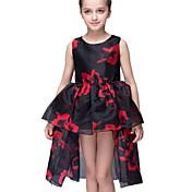 Vestido Chica dePoliéster-Verano-Negro