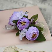 Svatební kytice ručně vázané Růže Živůtek na zápěstí Svatba Párty / večerní akce Bavlna Hedvábí