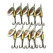 """10 個 ルアー バズベイト&スピナーベイト スプーン ランダム色 グラム/オンス,67mm mm/2-11/16"""" インチ,羽毛 メタル 海釣り 川釣り その他 ルアー釣り 一般的な釣り"""