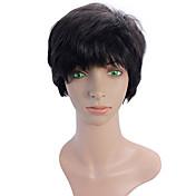 mujeres de mediana edad peluca del pelo recto peluca de pelo corto femenino del temperamento del pelo recto corto mullido