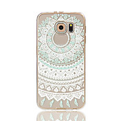 For Samsung Galaxy S7 Edge Transparent Mønster Etui Bagcover Etui blondedesign Blødt TPU for S7 edge S7 S6 edge S6