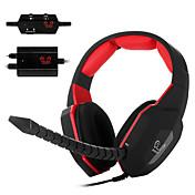 ho-939mv decodificador óptico videojuegos receptor de cabeza sobre el auricular del oído micrófono desmontable para PC / Mac / Xbox One /