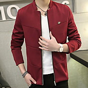 男性用 長袖 ジャケット,コットン カジュアル プレイン